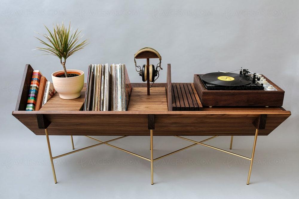 Très Beau Meuble Design Pour Amateurs De Vinyles Chez Sitskie