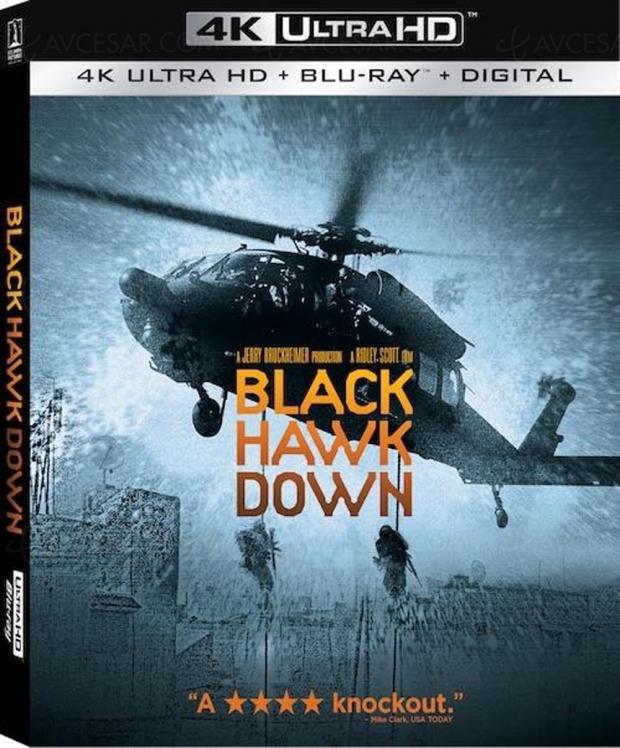 La chute du Faucon Noir, un 4K Ultra HD Blu‑Ray pour le génial film de Ridley Scott