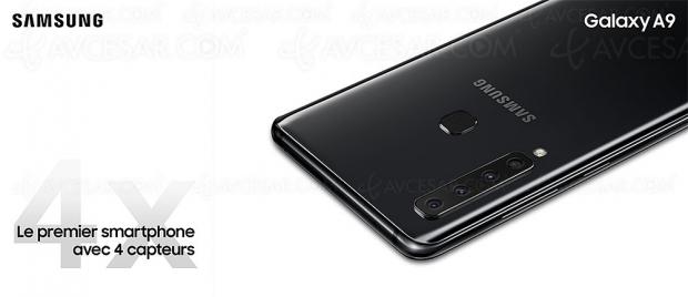 Smartphone Samsung Galaxy A9 (SM‑A920FN) : quadruple capteur photo dorsal pour concurrencer les vrais appareils photo