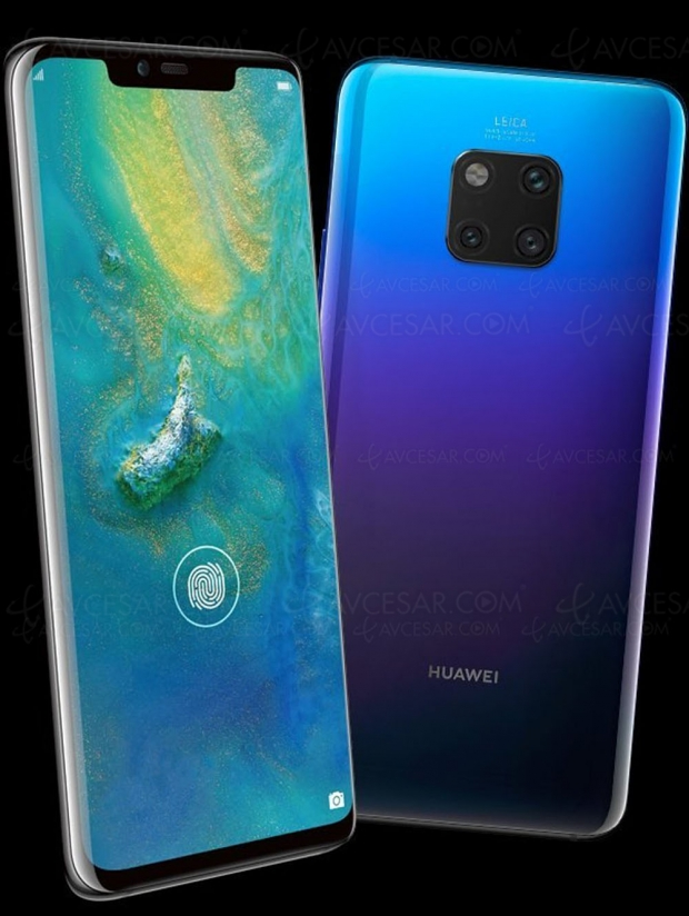 Smartphone Huawei Mate 20 Pro : écran Oled 6,4'', Kirin 980, Android 9.0, Emui 9