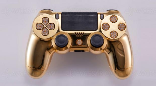 Manette PlayStation 4 en or et diamants, à partir de 8 500 dollars…