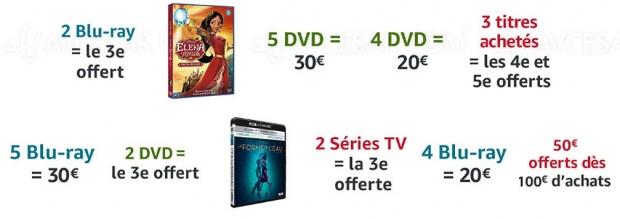 Promos Amazon sur plusieurs milliers de titres Blu‑Ray/DVD etsériesTV, récapitulatif des meilleures promos dumoment