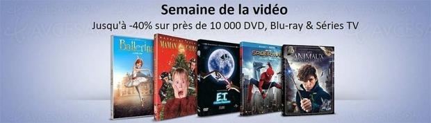 Amazon Semaine de la vidéo, 10000BD/DVD et sériesTV àpetit prix, jusqu'à-50%