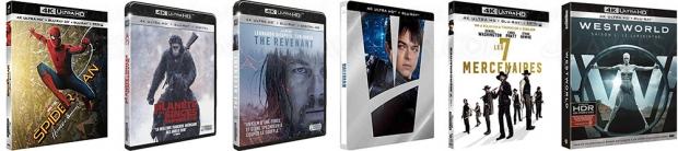 Amazon semaine de la vidéo, 94titres 4KUltraHD Blu‑Ray à petit prix, jusqu'à-50%