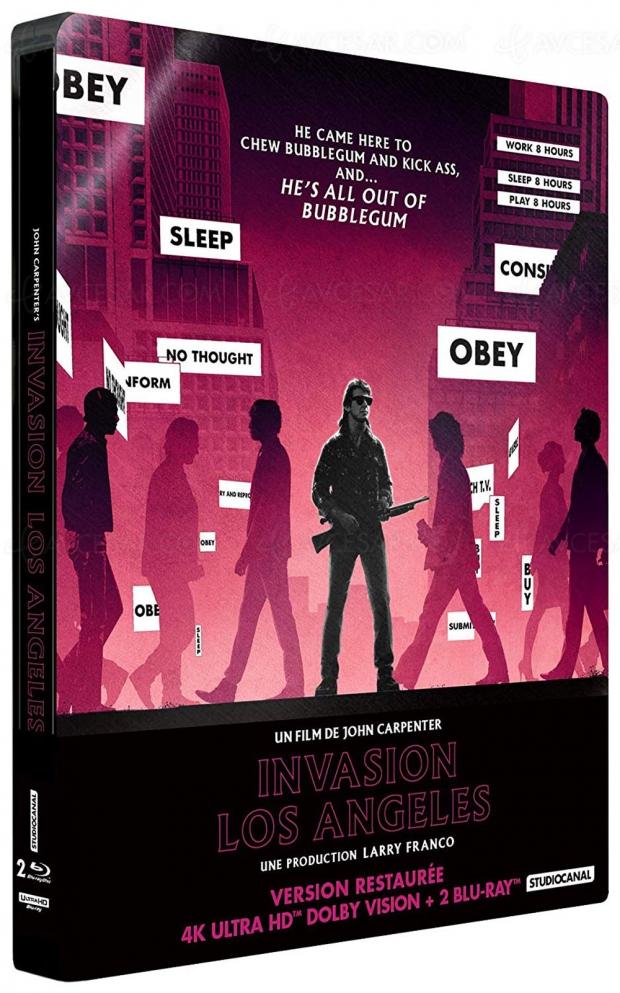 Invasion Los Angeles de John Carpenter, They Live en 4KUltraHD Blu‑Ray et DolbyVision