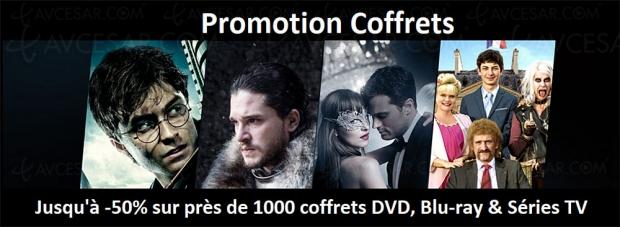 Black week-end dernière soirée, jusqu'à ‑64% sur près de 1000 coffrets 4KUltraHD Blu‑Ray, Blu‑Ray, DVD etsériesTV