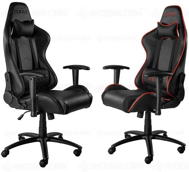 Trois nouveaux sièges « Gamer » annoncés chez Rekt