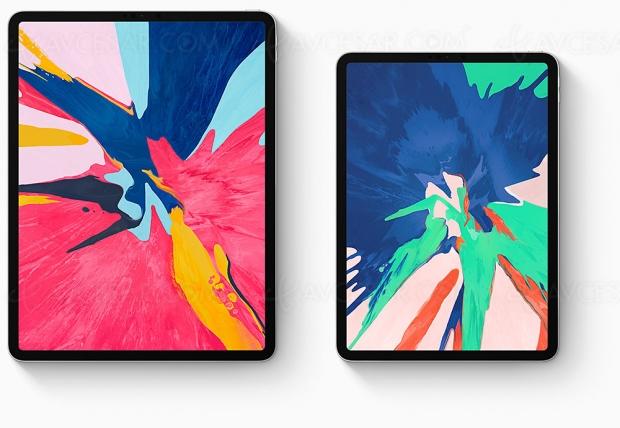 Nouveaux iPad Pro11'' et12,9'', vastes écrans, puce A12XBionic etApple Penciltactile