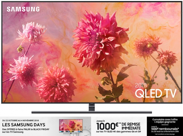 Samsung Days TV UltraHD, jusqu'à 1000€ deremise jusqu'à 4novembre +jusqu'à 1000€ remboursés jusqu'au 6novembre