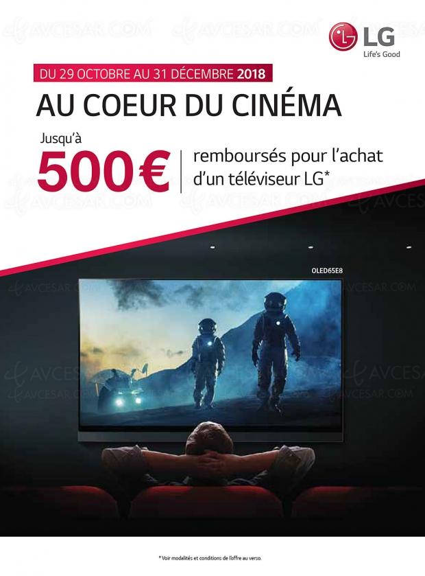Offre de remboursement TV LGOled etLGLED, jusqu'à 500€remboursés