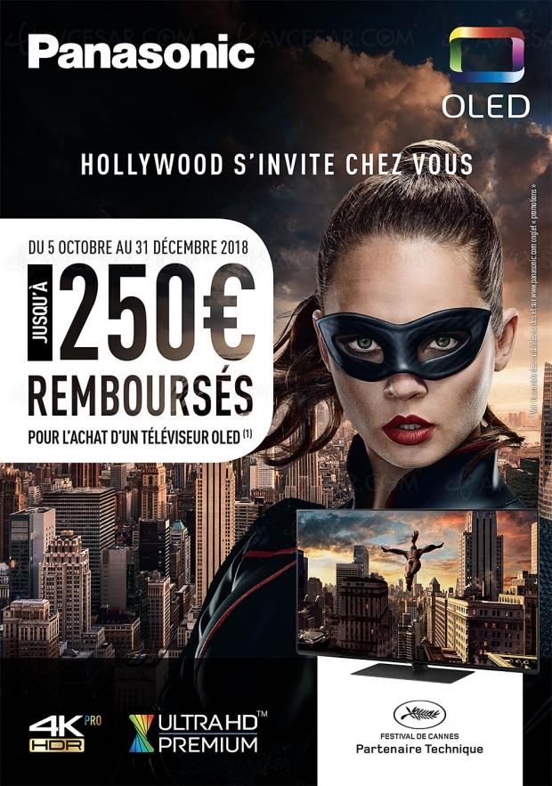 Offre de remboursement Panasonic TVOled UltraHD, jusqu'à 250€remboursés