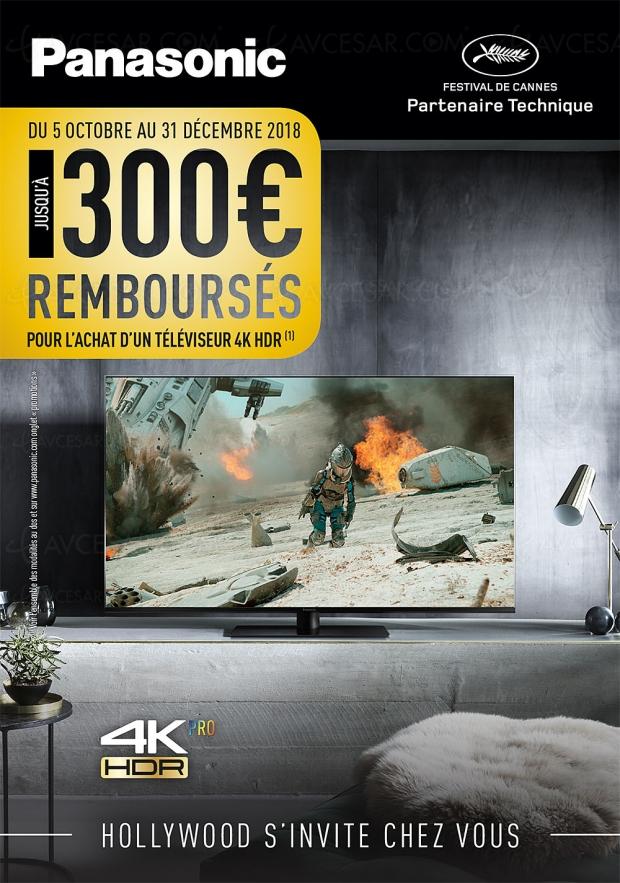 Offre de remboursement PanasonicTV UltraHDHDR, jusqu'à300€remboursés