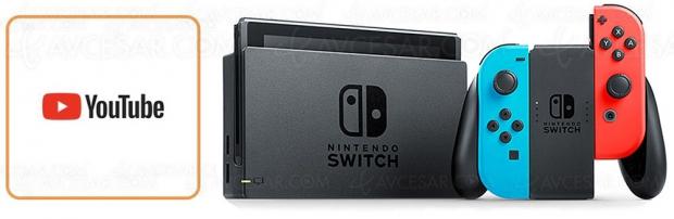 YouTube sur Nintendo Switch, c'est disponible !