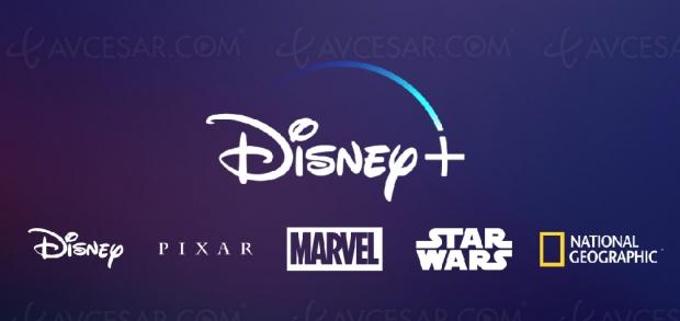 Plateforme streaming Disney+, logo, nouvelles séries Star Wars etMarvel