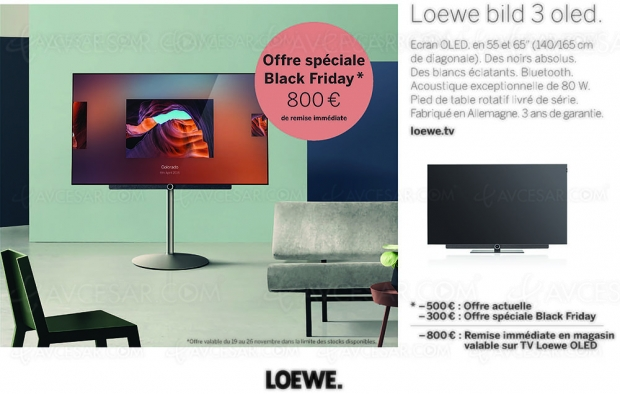 Black Friday + CyberMonday: offres promo Loewe TVOled, jusqu'à 1200€ deremisesimmédiates
