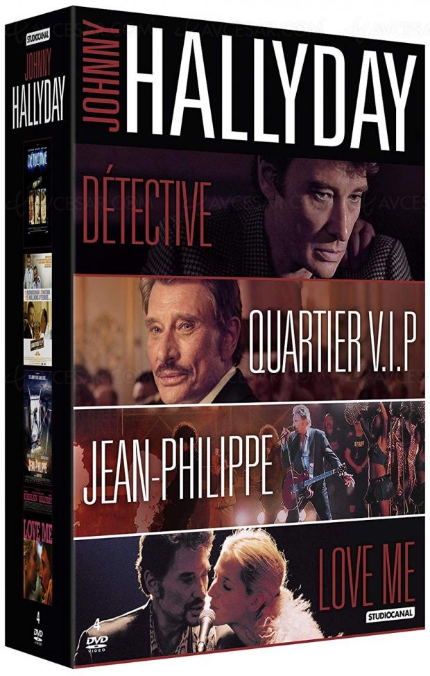 Coffret DVD Johnny Hallyday quatre films, de Godard à LaetitiaMasson