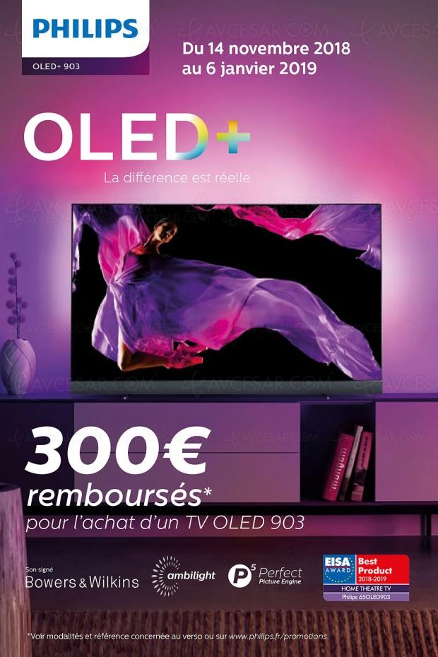 Offre de remboursement TVOled UltraHD Ambilight Philips55OLED903/65OLED903, 300€remboursés