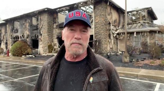 Arnold Schwarzenegger, Governator témoigne depuis les ruines de Paradise