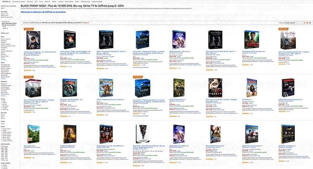 Black Friday, 10000 4KBlu‑Ray, Blu‑Ray, DVD etsériesTV jusqu'à-63%
