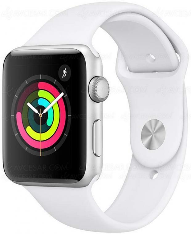 Cyber Monday, montres connectées Apple Watch série 3, 42 mm, à 15% de remise