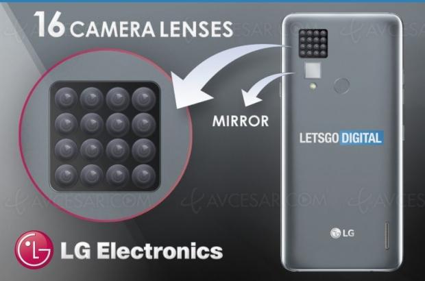 LG surenchérit: brevet pour 16caméras pour unsmartphone!