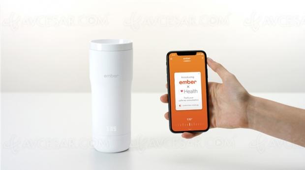 Tasse et mug chauffants connectés Ember