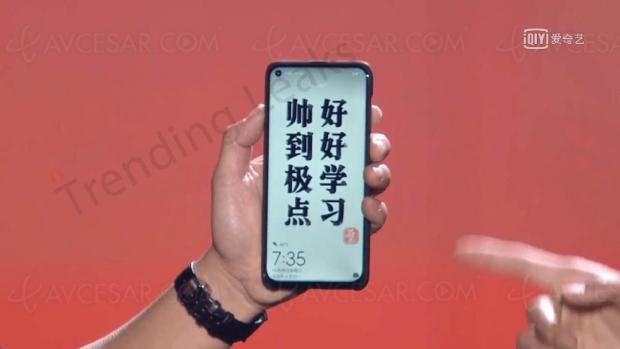 Huawei Nova4, premier smartphone avec écran de type «Infinity‑O»?