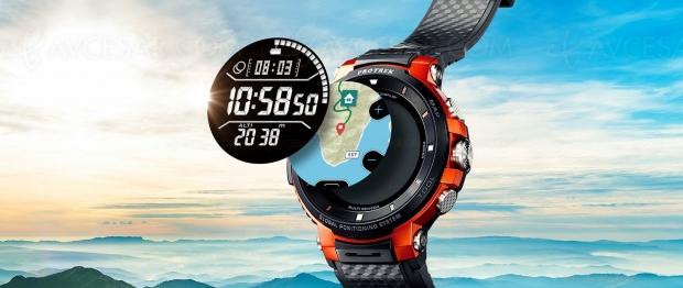 Smartwatch Casio ProTrek SmartWSD‑F30, partenariat avecBikemap