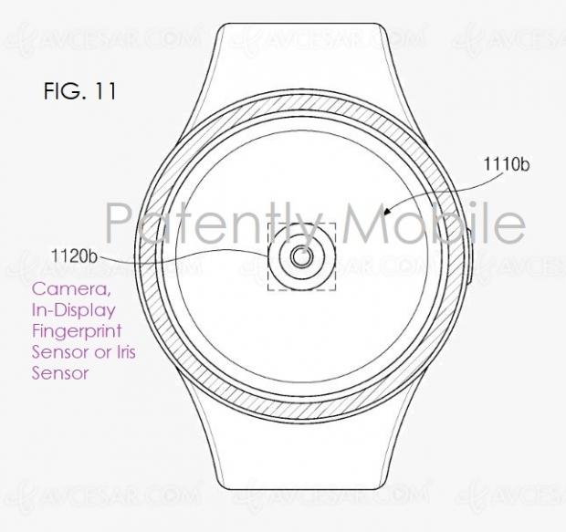 Samsung : capteur d'empreinte sous écran pour smartwatch