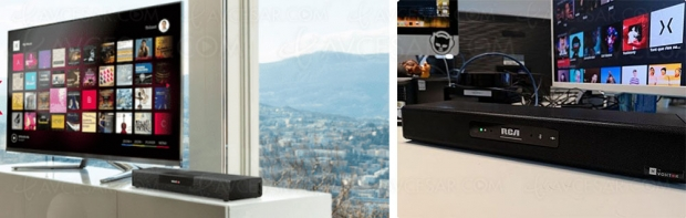 CES 19 > Barre sonore RCA Smart Soundbar avec service Music Avenue