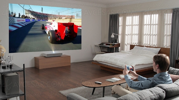 CES 19 > LG HU85L, vidéoprojecteur Ultra HD/4K laser ultra‑courte focale