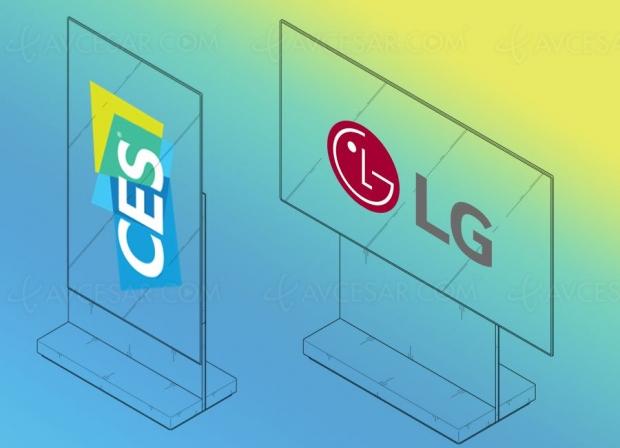 CES 19 > Téléviseur LG rotatif (horizontal/vertical) auCES deLasVegas?