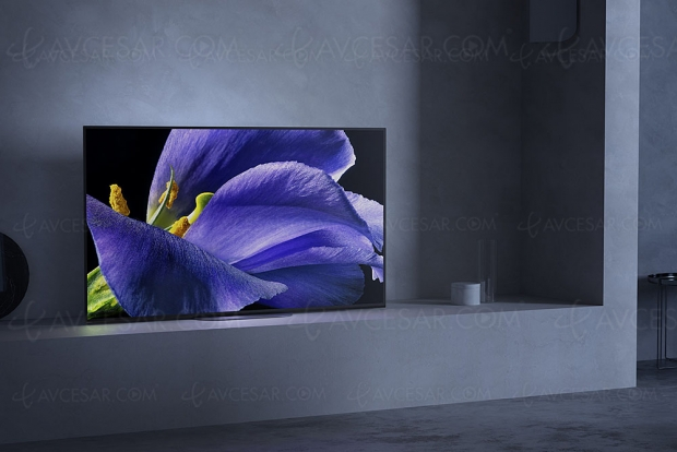 CES 19 > TV Bravia Oled Sony AG9 Master Series, 55'', 65'' et 77'' : Acoustic Surface Audio+, HDMI 2.1, X1 Ultimate…