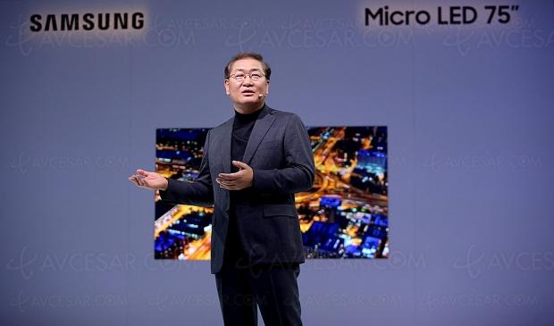 CES 19 > TV Micro LED Ultra HD Samsung 75'', 84'' et 219'' présentés