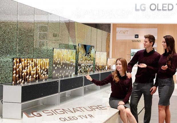 CES 19 > LG Signature Oled TV R, le téléviseur enroulable est bien là !