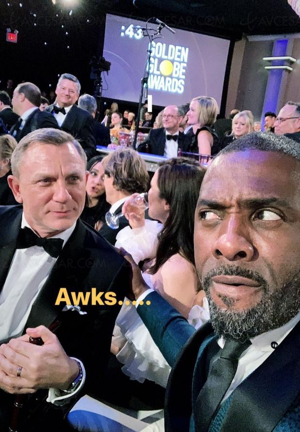 Idris Elba, futur James Bond ? Son selfie avec Daniel Craig est très drôle