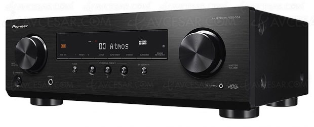 Pioneer VSX-534, amplificateur 5.2, Dolby Atmos 3.2.2, DTS:X, HDR Dolby Vision, MCACC et HDMI 2.0b