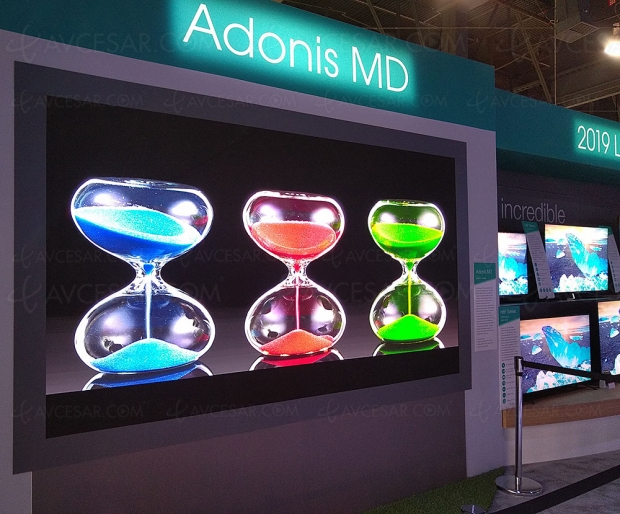 CES 19 > TV Micro LED Hisense Adonis MD, écran modulaire Ultra HD/4K 145''
