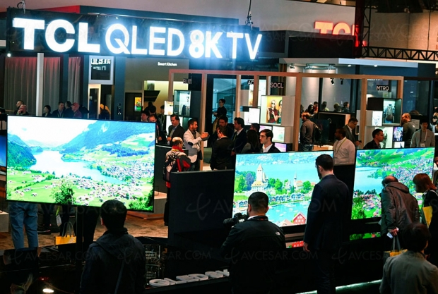 CES 19 > TV LCD QLED 8K TCL X10 75'', 1 000 Mini LED, 1 000 nits, HDR Dolby Vision et HDR10+