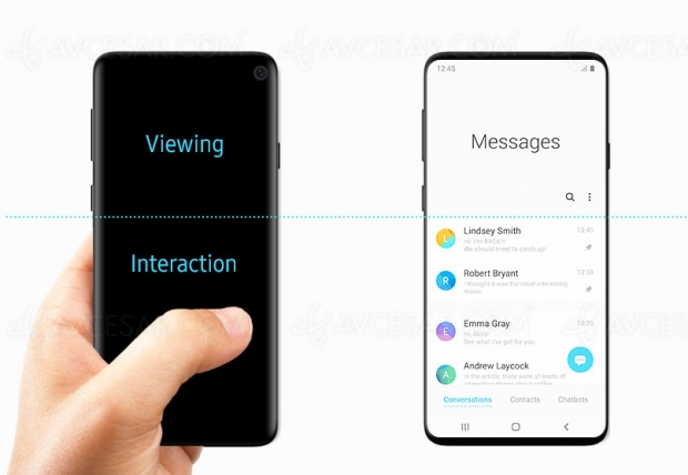Smartphone Galaxy S10 accidentellement dévoilé par Samsung ?