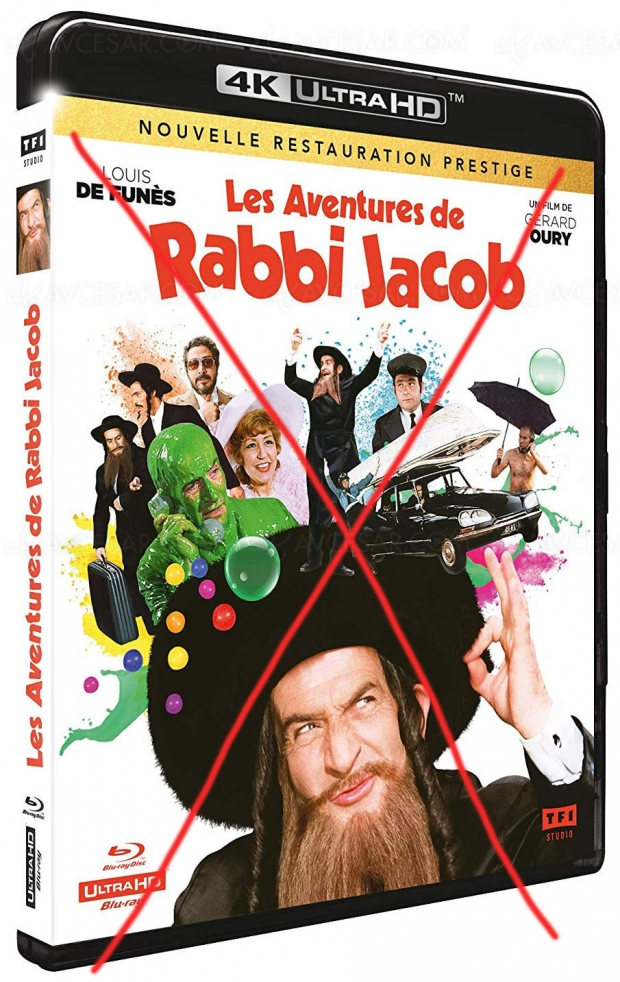 Rabbi Jacob 4K Ultra HD, il n'y aura pas…
