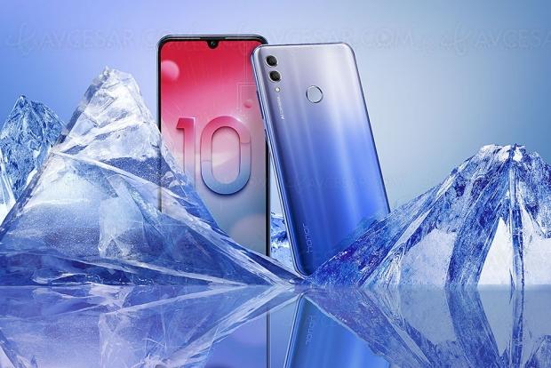Smartphone Honor 10Lite, capteurAPN 24Mpxls +AI pour desSelfies topqualité