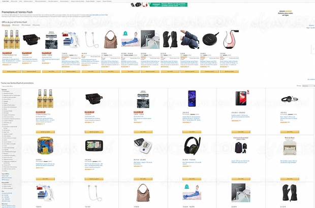 Ventes Flash Amazon, 9999produits à prix incroyables, jusqu'à90% deremise