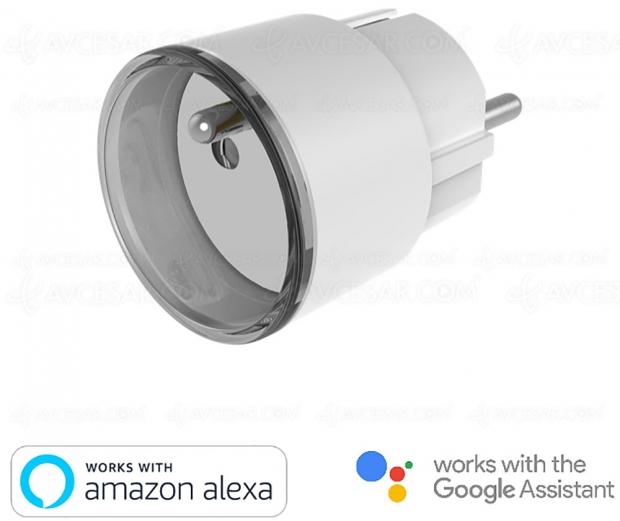 Prise de courant connectée Konyks Priska Mini compatible Amazon Alexa et Google Assistant