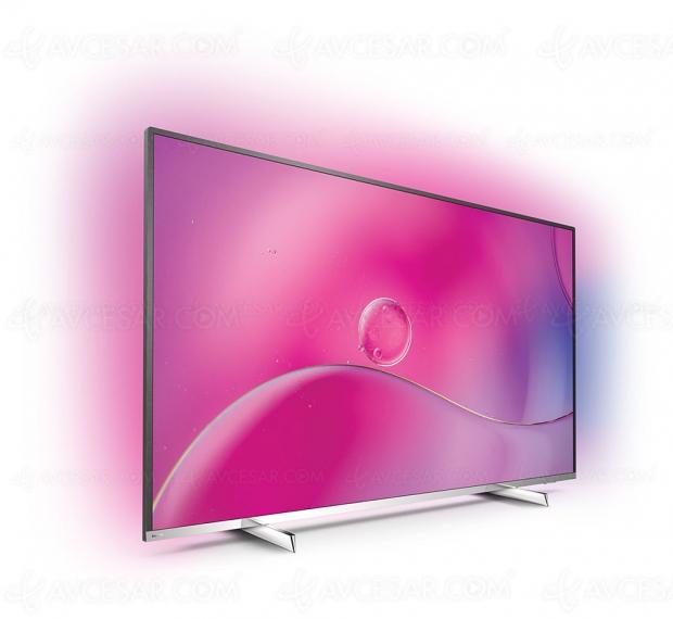 TV LED Philips PUS9104, unique 55'' NanoCell/HDR10+ signé Georg Jensen