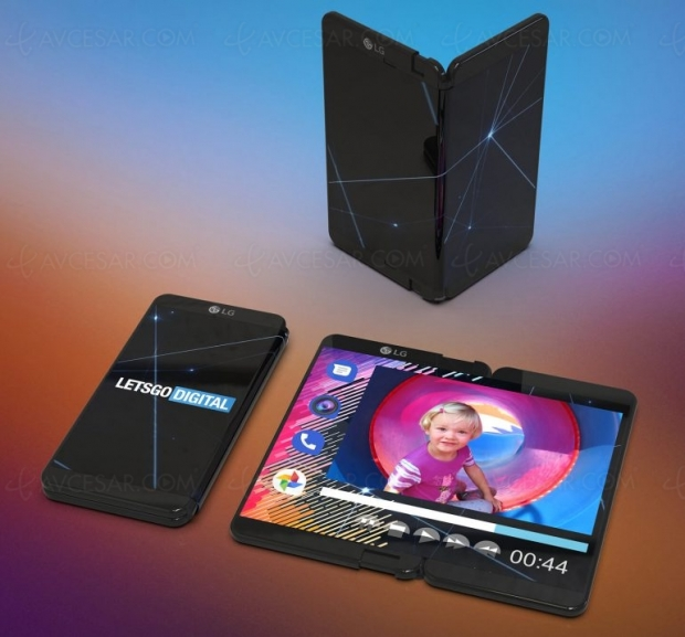 Smartphone pliable LG montré auMWC2019 deBarcelone… enprivé