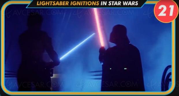 Combien de sabres laser déclenchés dans Star Wars? Les Français veulentsavoir