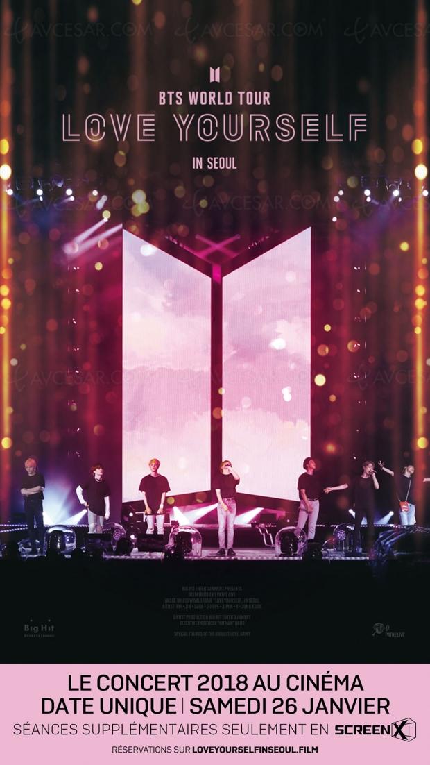 Première mondiale : diffusion à Paris du concert de BTS en ScreenX 270° le 26 janvier