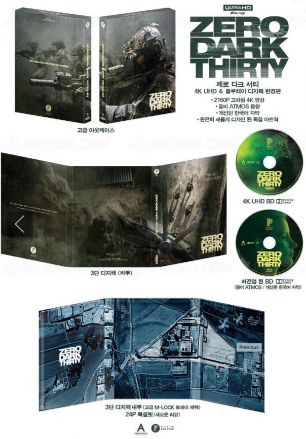Zero Dark Thirty 4KUltraHDBlu‑Ray, superbe édition spéciale enCorée