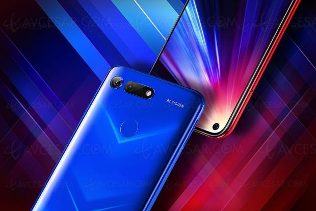 Smartphone Honor View20, Kirin 980 gravé en 7 nm, APN 48 Mpxls, webcam 25 Mpxls intégrée et design nano‑lithographie
